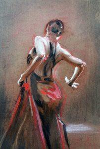 Flamenco tanzende Frau