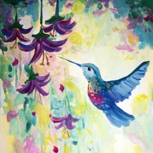 Leuchtender Kolibri