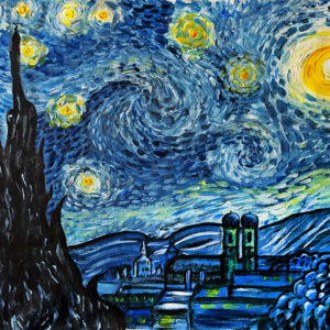 "Paint like van Gogh – ""Starry Night"""