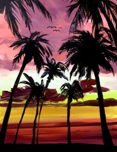 Summer feeling mit Palmen