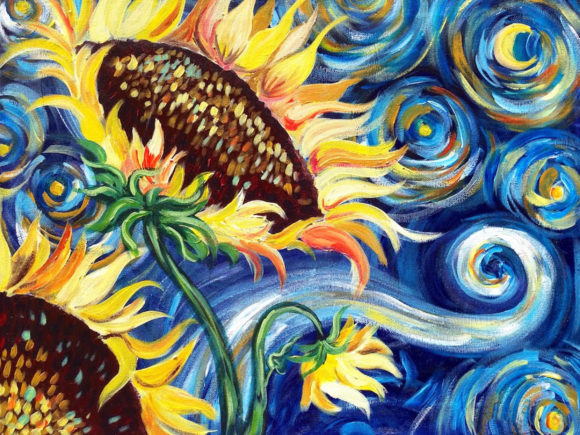 Starry Night Sunflower