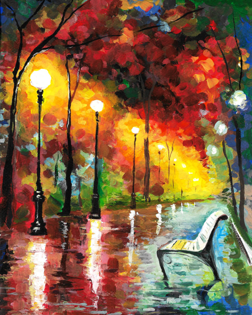 Lonely Fall in Paris - ArtMasters