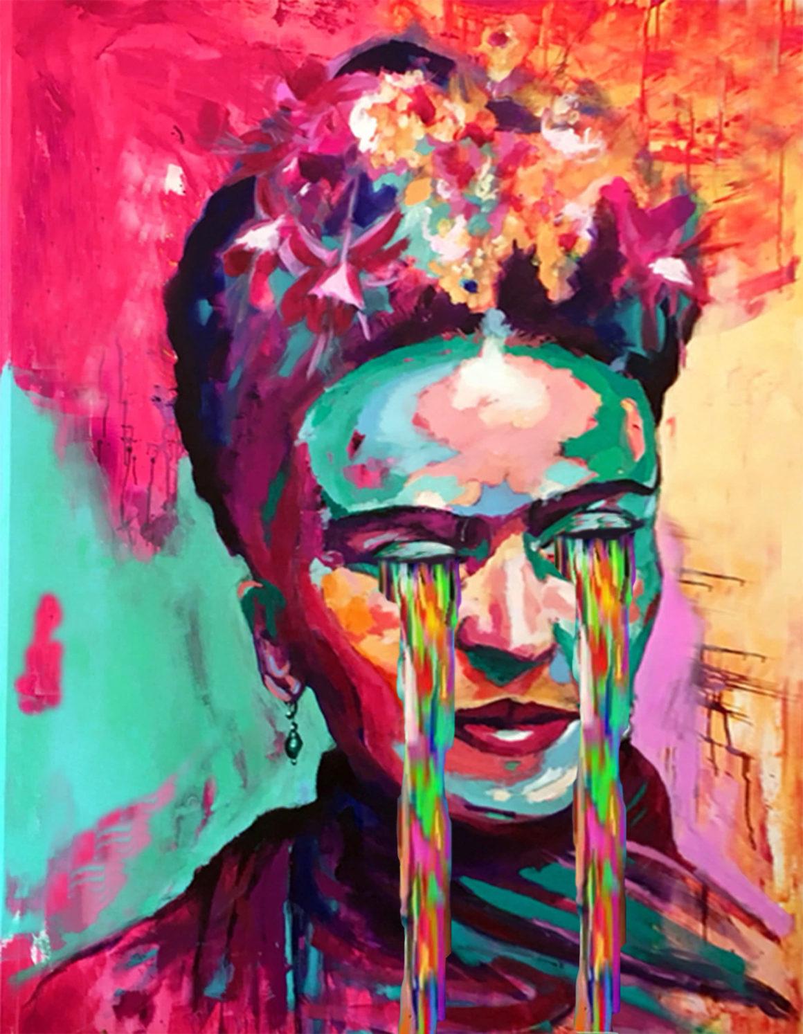 Cyring Frida Kahlo