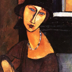 Paint Like Modigliani – Jeanne Hebuterne with Hat and Necklace
