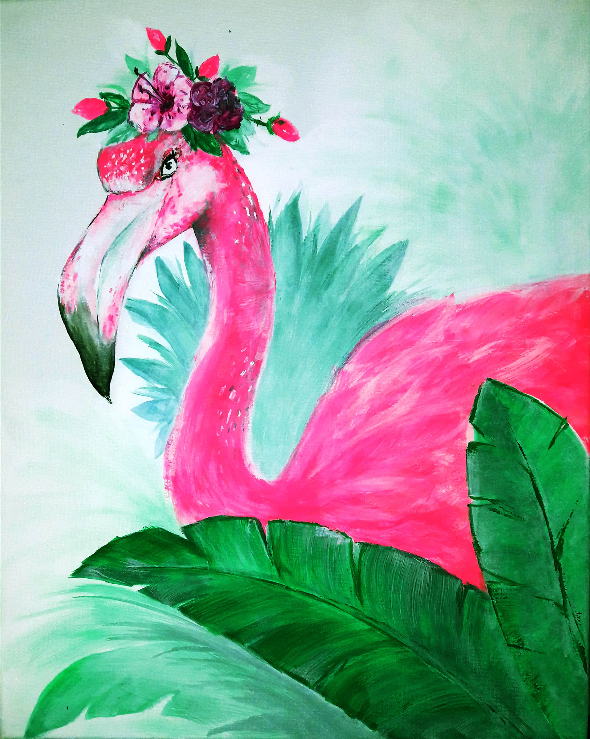 Flower Flamingo Artmasters