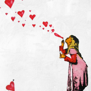 """Paint like Banksy """"Love is in the Air"""""""