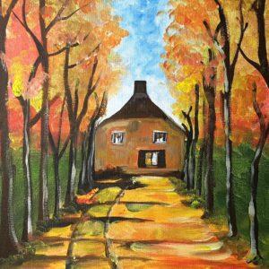 Paint like Van Gogh – Avenue of Trees