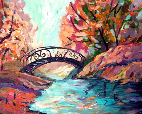 Spaziergang im Park Herbst