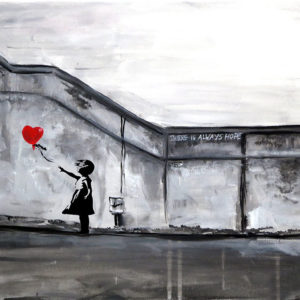 "Paint like Banksy – ""Girl with Balloon"""