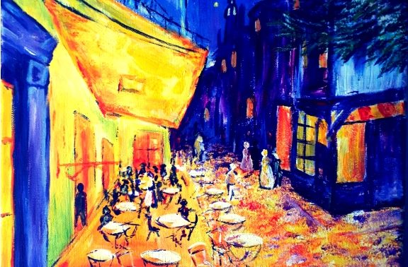 Paint like Van Gogh Cafe de Paris