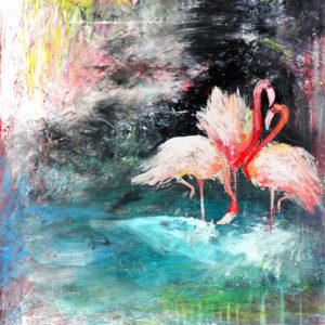 Flamingo Abstraction – In English