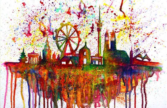 Munich Skyline Splash