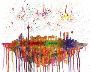 Berlin Skyline Splash