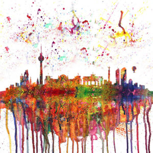 Berlin Skyline Splash – In English