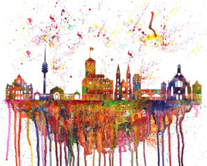 Nuernberg Skyline Splash