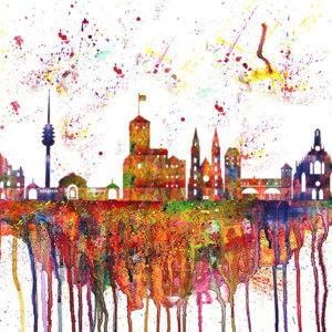 Nürnberg Skyline Splash